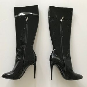 Dolce & Gabbana Black Patent Leather Heeled Boots